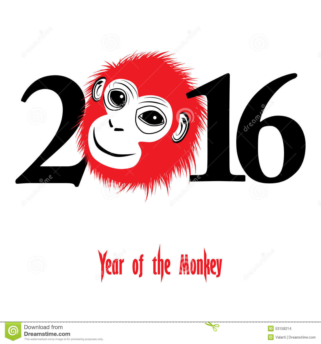 Jooker Lai Lai Lai Audio Theem Downlod: Chinese New Year 2016 (Monkey Year) Stock Vector