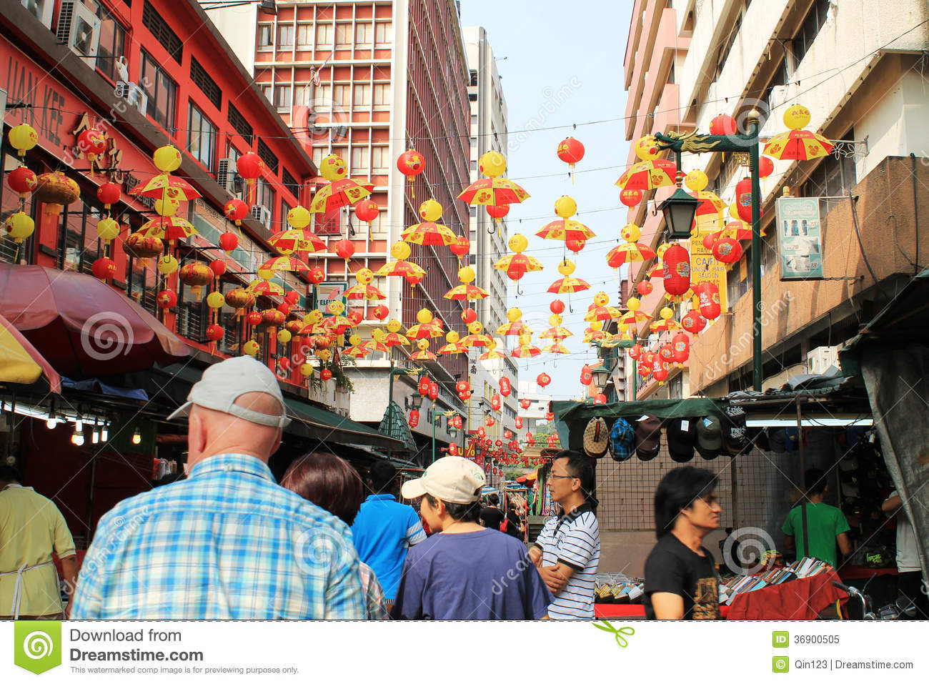 Chinese New Year Decoration Shop At Petaling Street