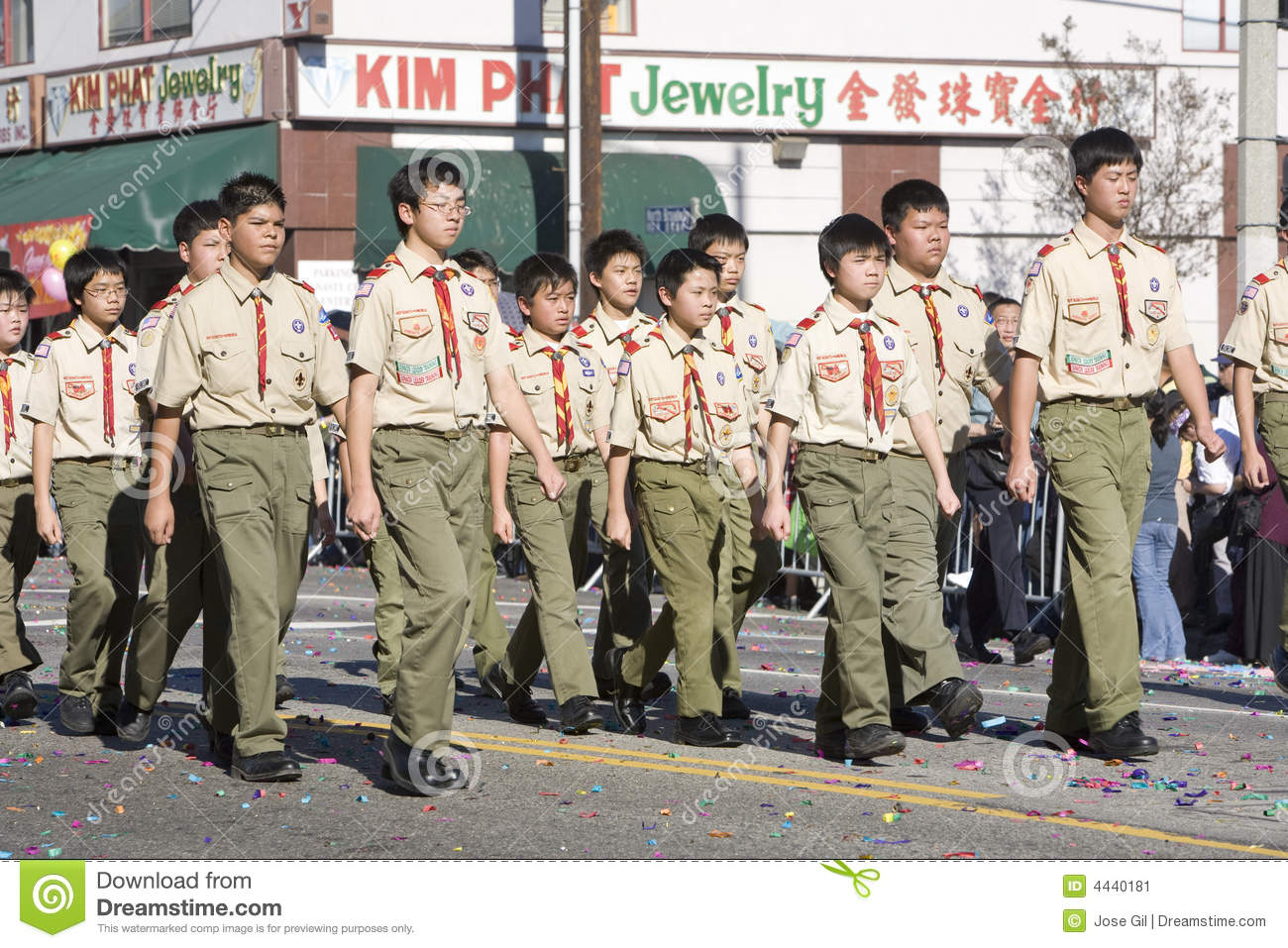 Troop in the chinese new year