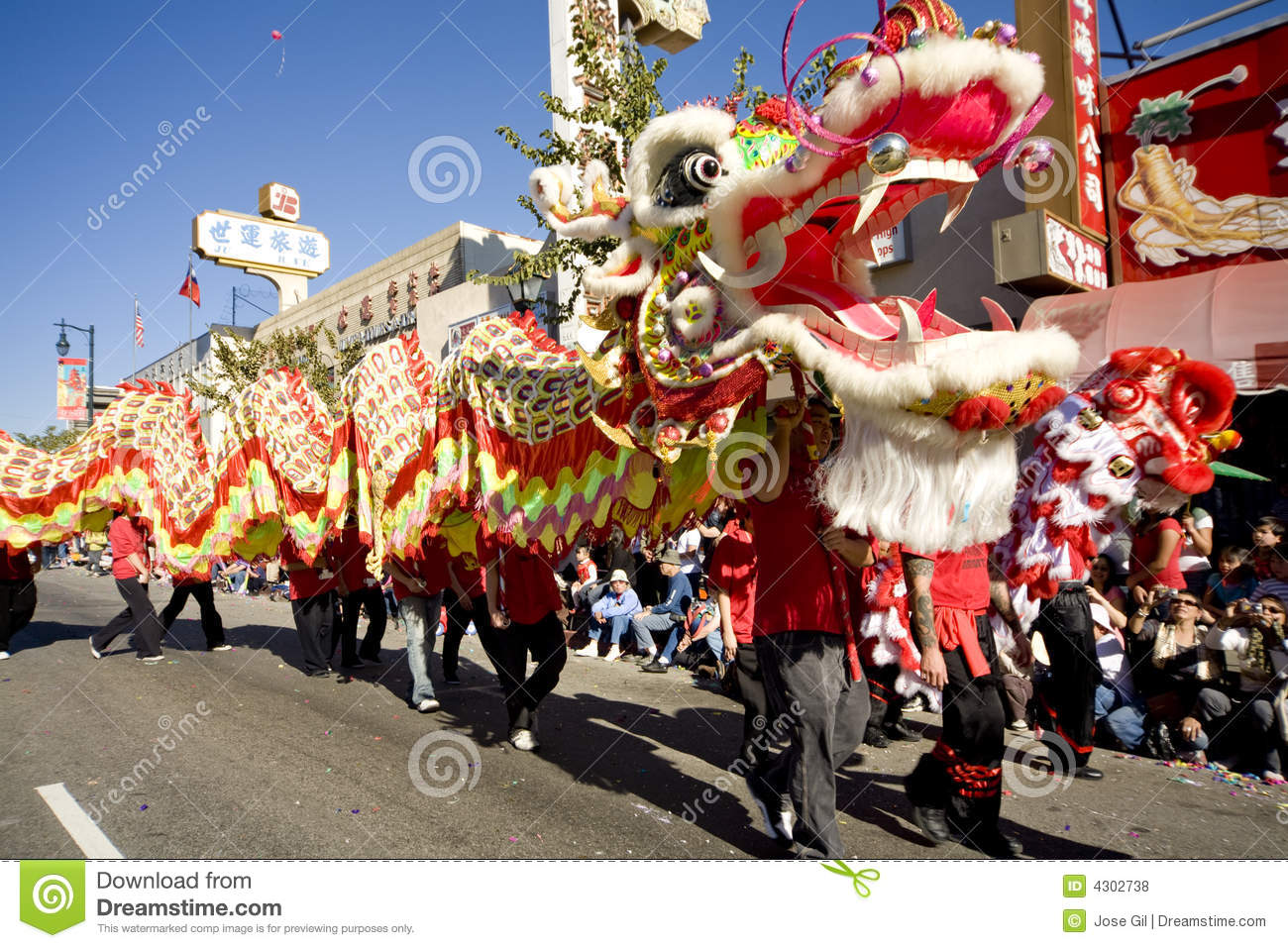 Chinese New Year Parade Dragon 10 Editorial Stock Photo - Image: 4302738