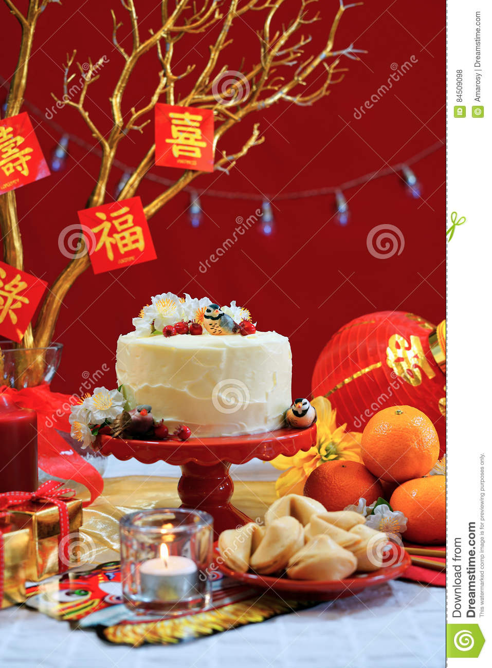 Chinese New Year Party Table Stock Photo - Image of ...
