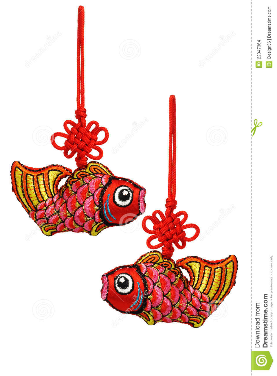 Chinese New Year Prosperity Fish Ornaments Stock Photo ...