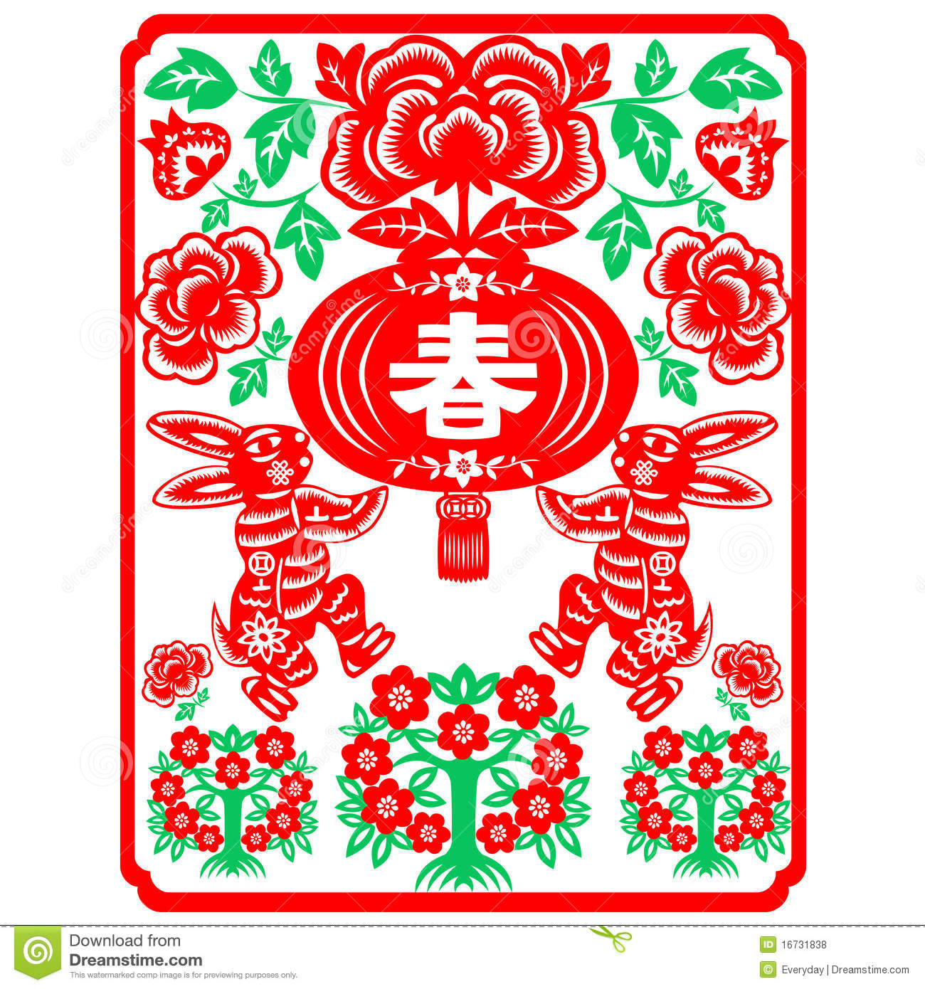 Chinese New Year rabbit stock vector. Illustration of ...