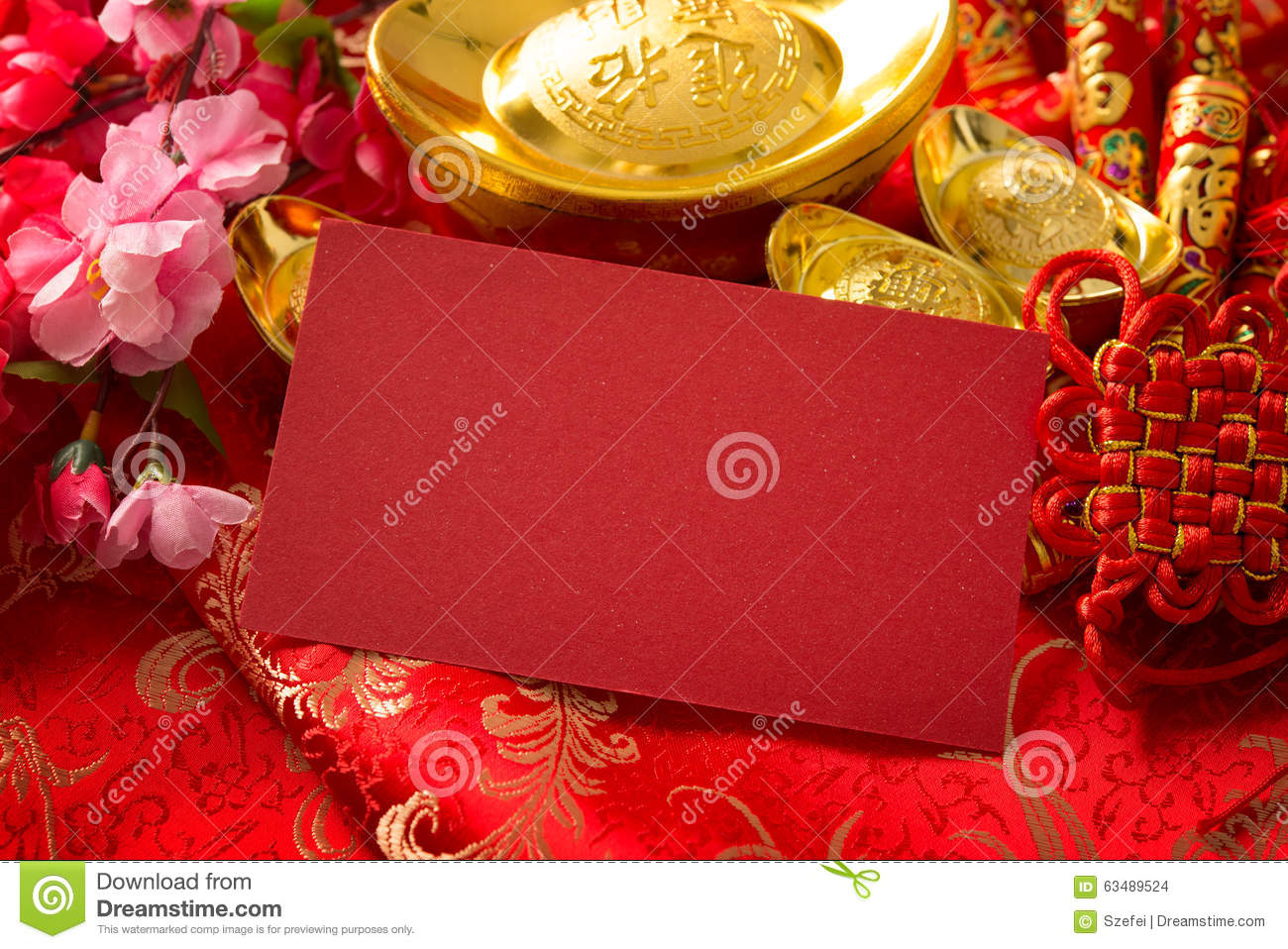 Chinese new year red ang pow stock photo image 63489524 for Ang pow decoration