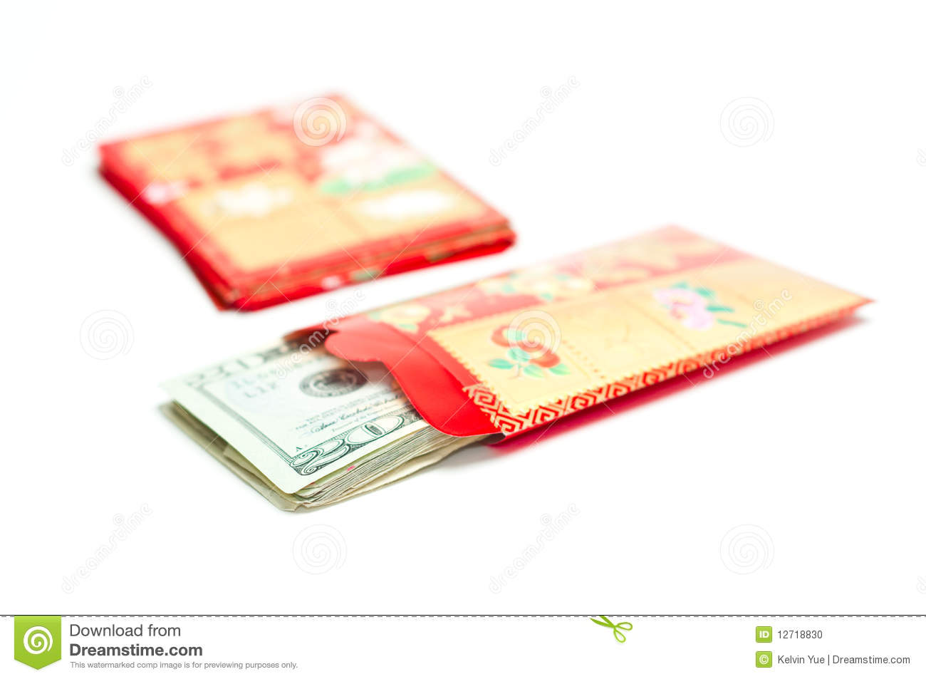 Chinese New Year Red Envelope With Money Stock Photo ...