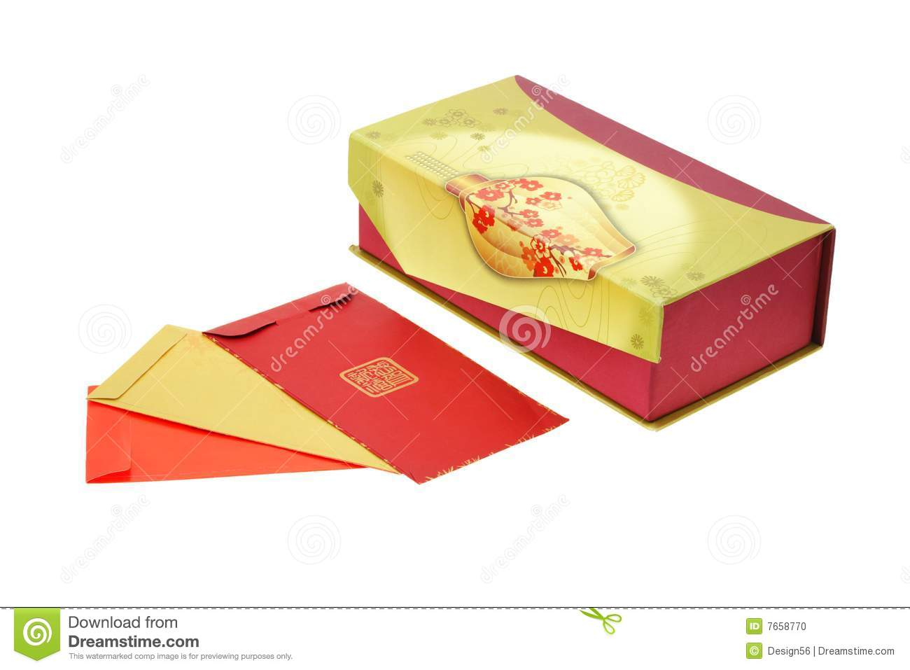 chinese new year red packets and gift box - Gifts For Chinese New Year