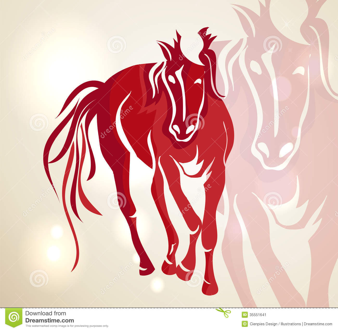 Chinese New Year 2014 Red Walking Horse Stock Image ...