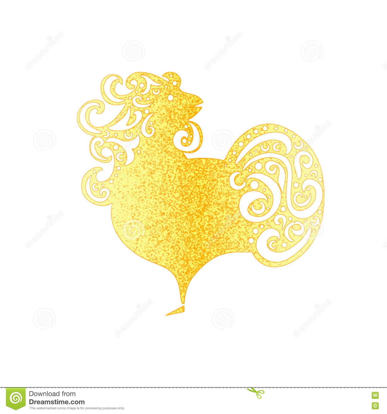 Chinese New Year 2017 Rooster Design Golden Symbol Of New Year