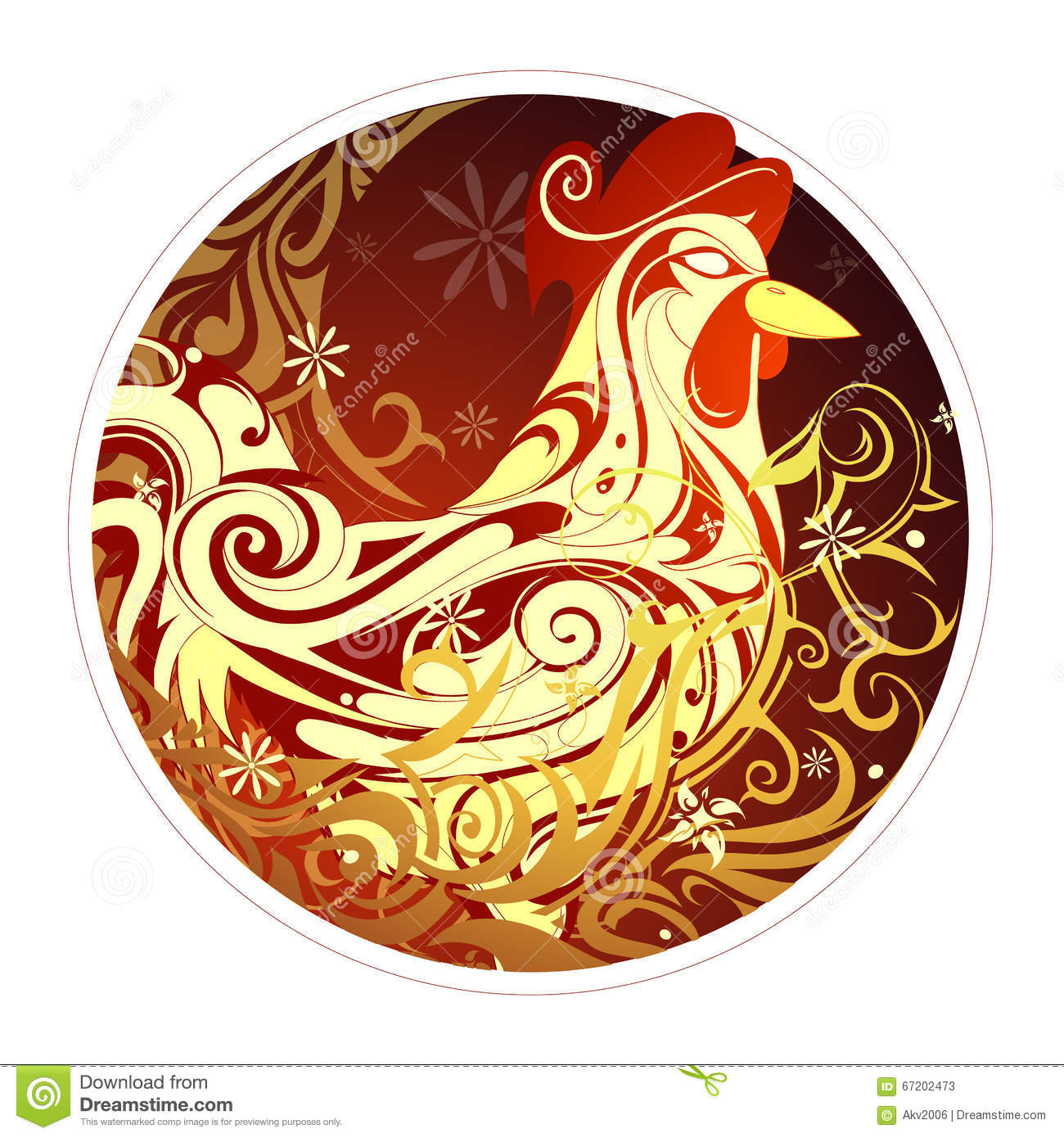 Rooster As Symbol Of 2017 By Chinese Zodiac Stock Vector Image 67202473