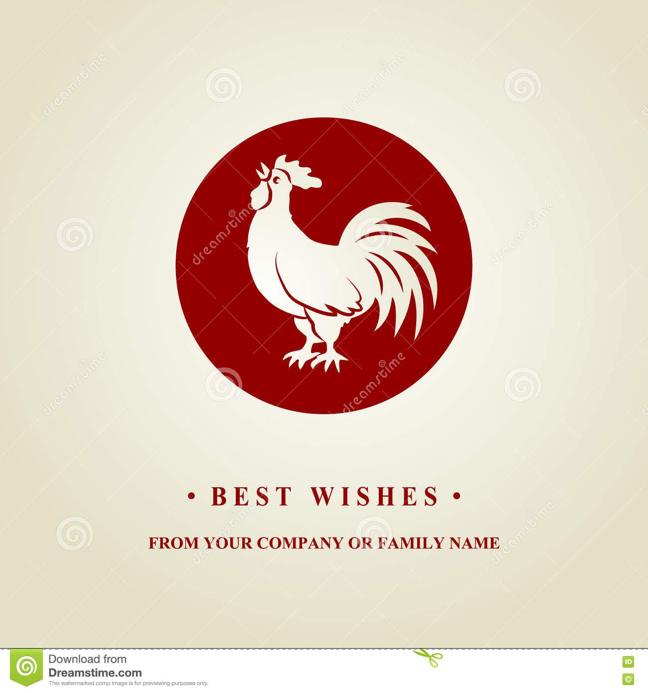 2017 chinese new year of the rooster silhouette of red cock the zodiac symbol