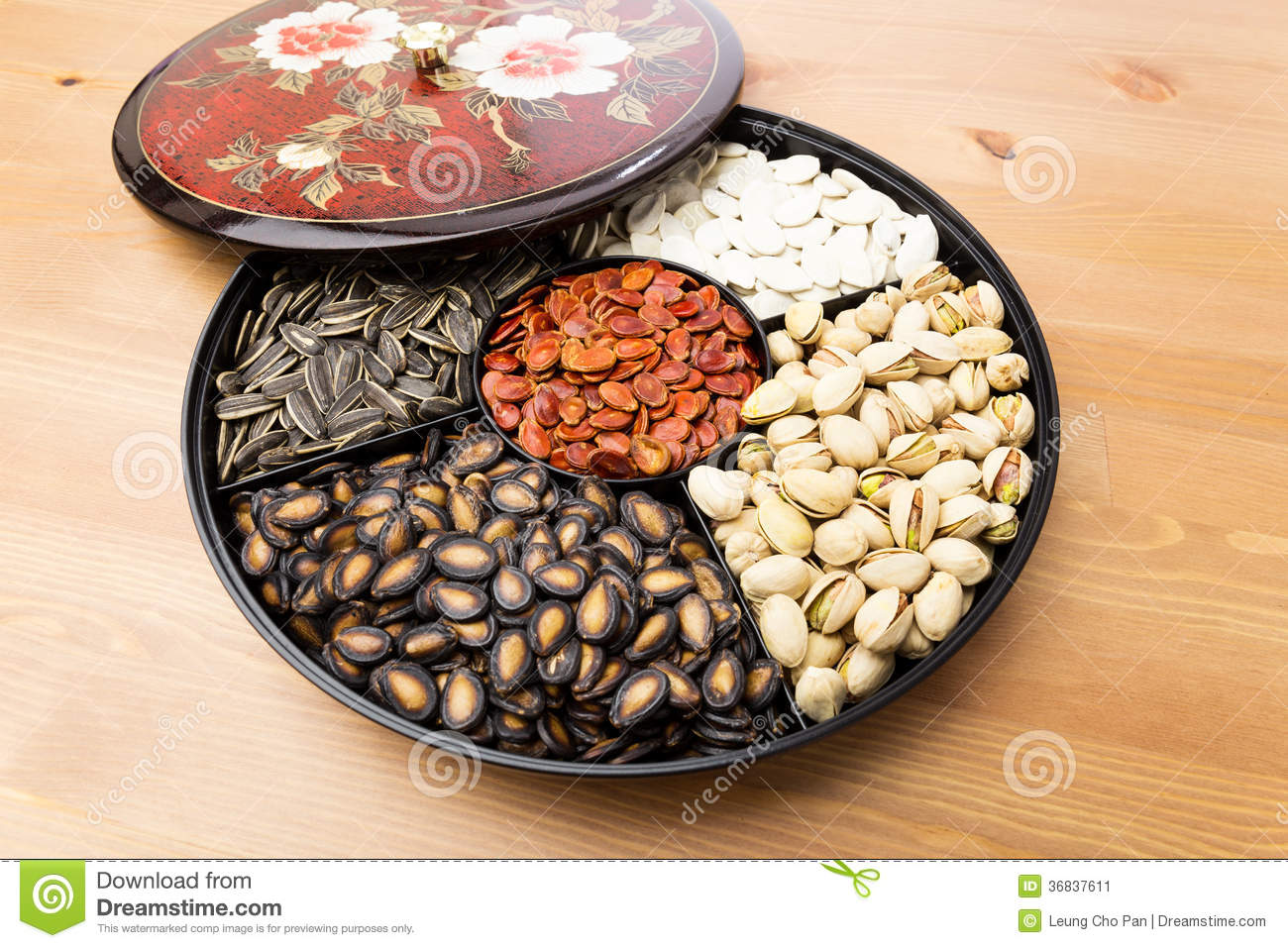 chinese new year snack box and cover stock image - Chinese New Year Candy