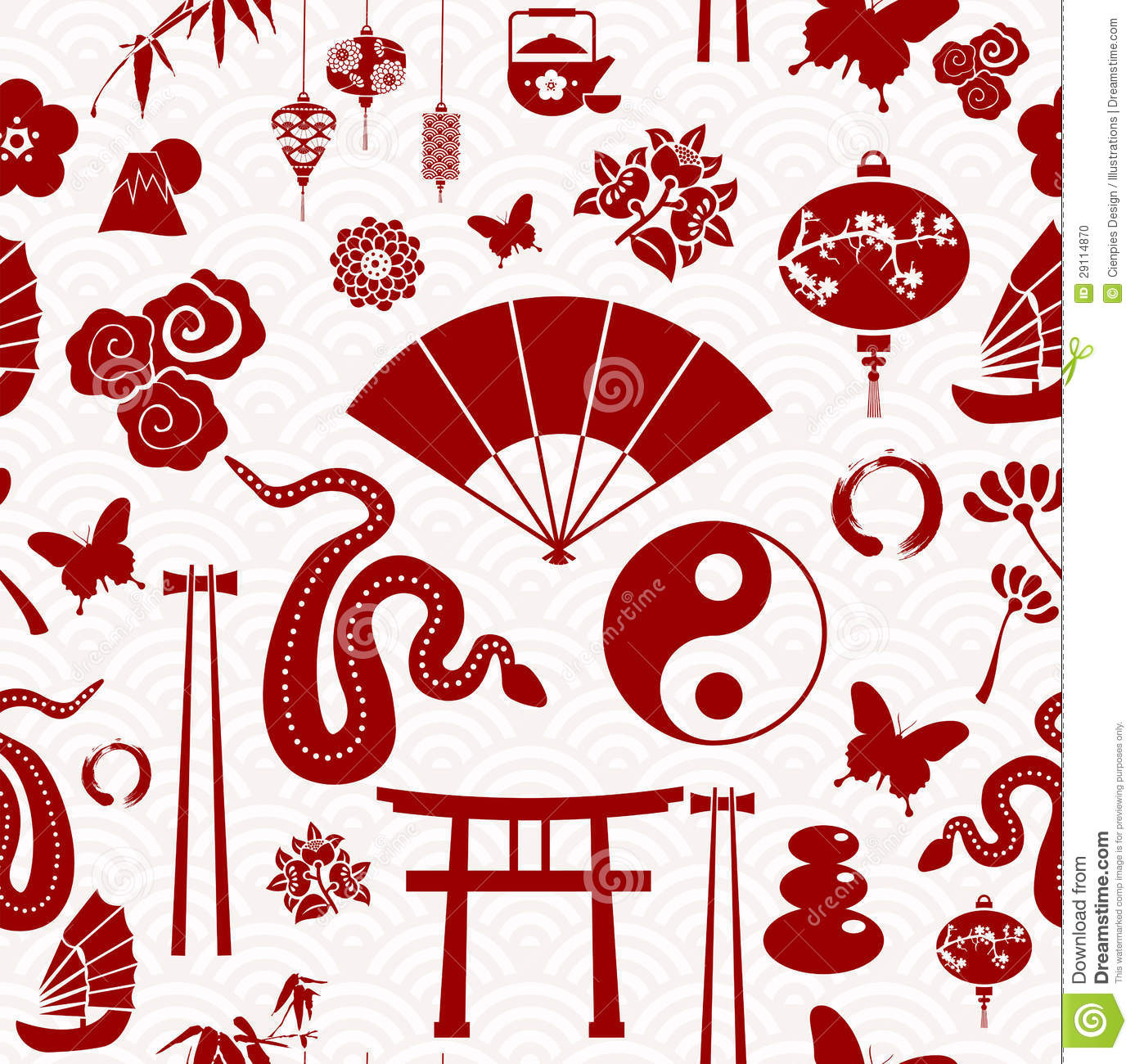 Chinese New Year Of The Snake Pattern Stock Photo Image 29114870