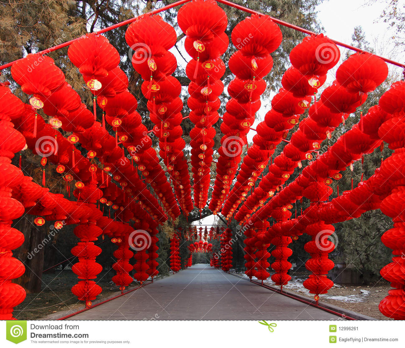 Chinese New Year Spring Festival Temple Fair Editorial