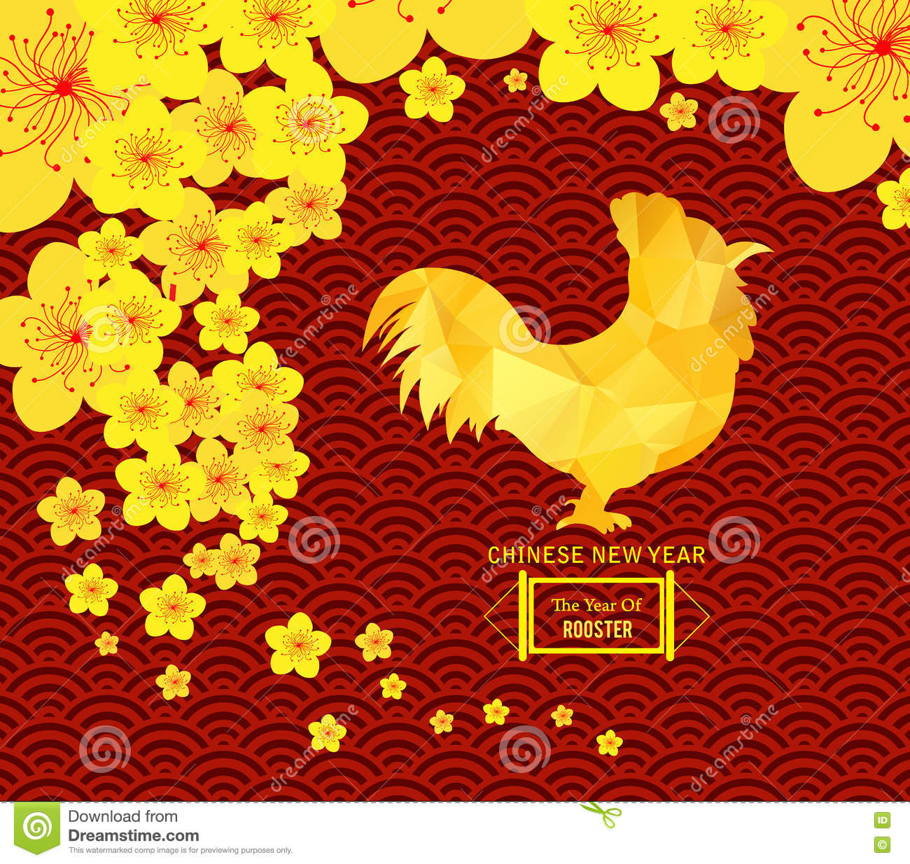 Chinese New Year Template Background 2017 Stock Illustration