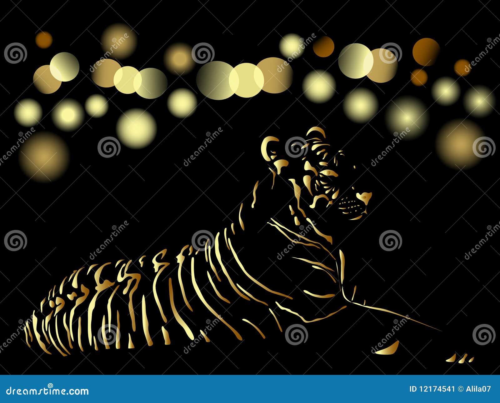 Chinese nieuwe jaar 2010 gouden kaart stock afbeelding afbeelding 12174541 - Oostelijk licht ...
