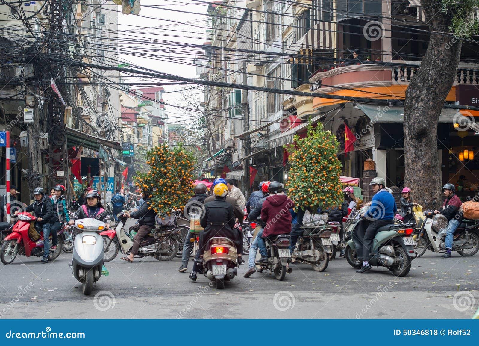 Chinese Nieuwjaardecoratie in Vietnam