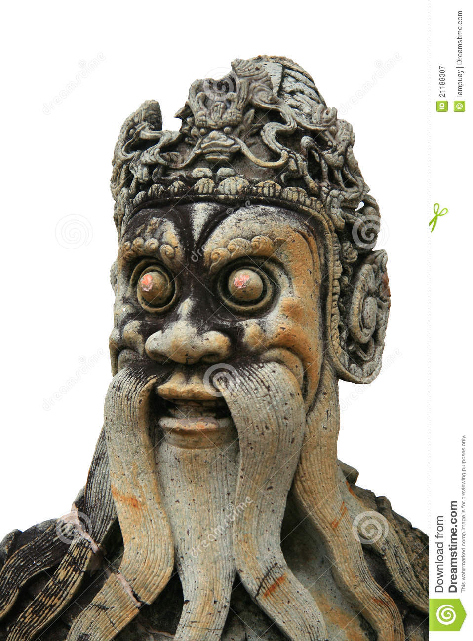 Chinese old man statue