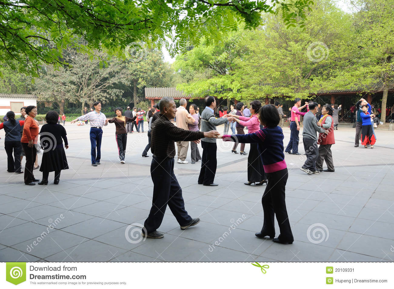 Chinese old people dancing