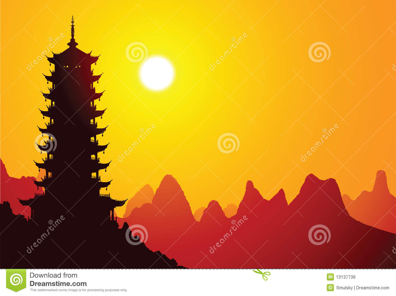 Chinese Pagoda Royalty Free Stock Images Image 13137739