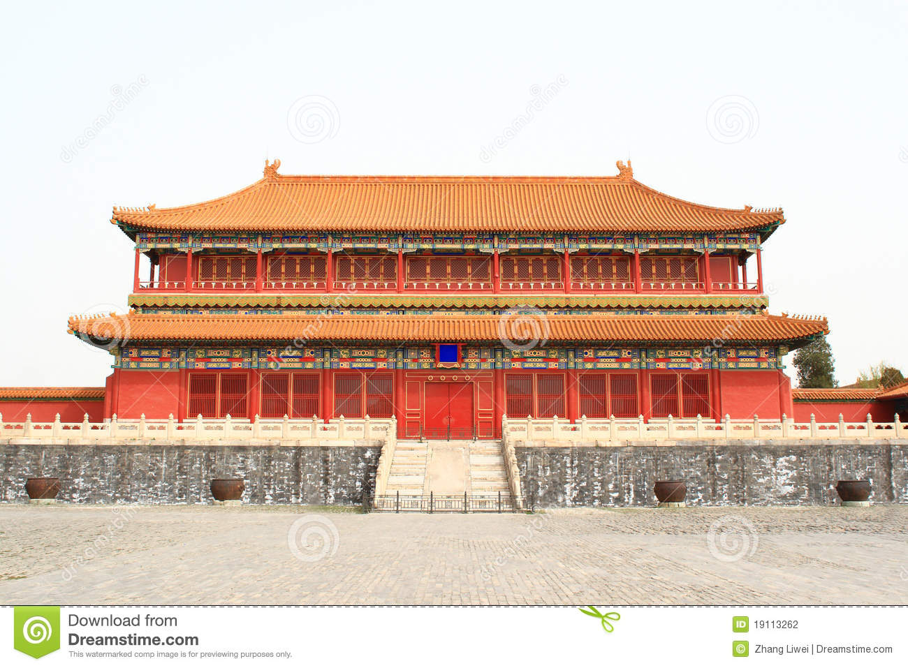 Draw House Plan Chinese Palace Stock Photography Image 19113262