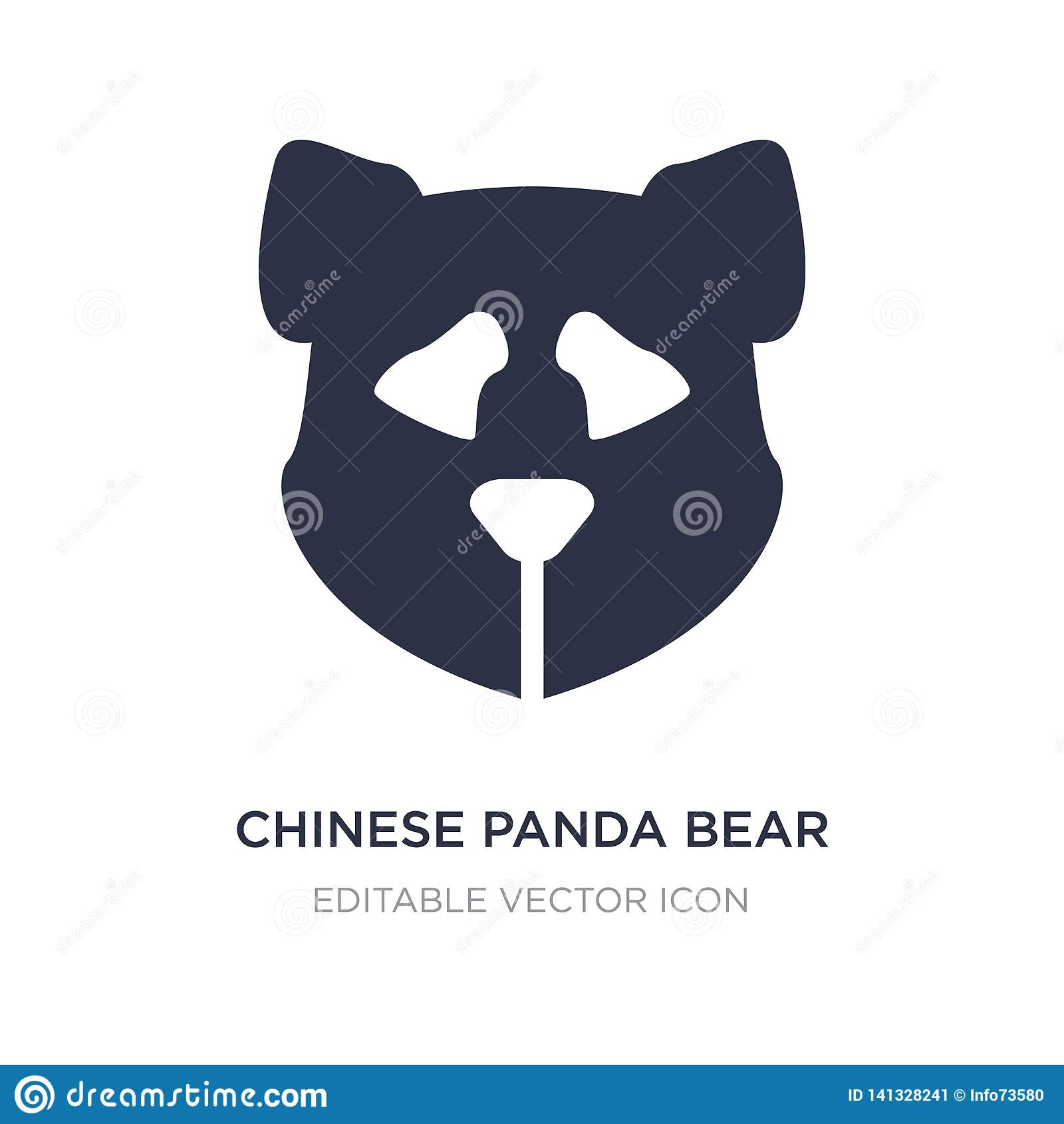 chinese panda bear icon on white background. Simple element illustration from Animals concept