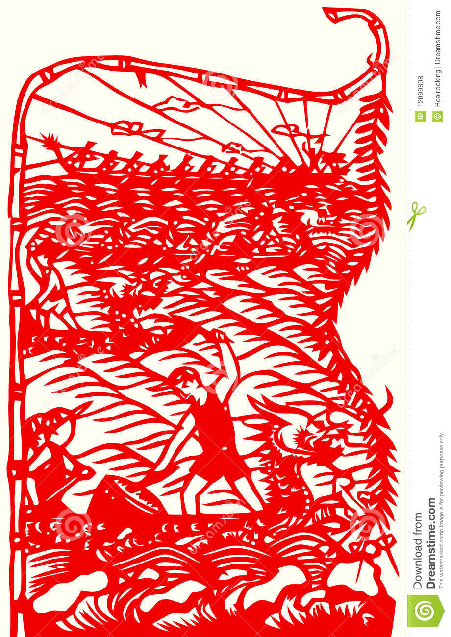 chinese paper cutting templates dragon - depa know now free traditional boat plans