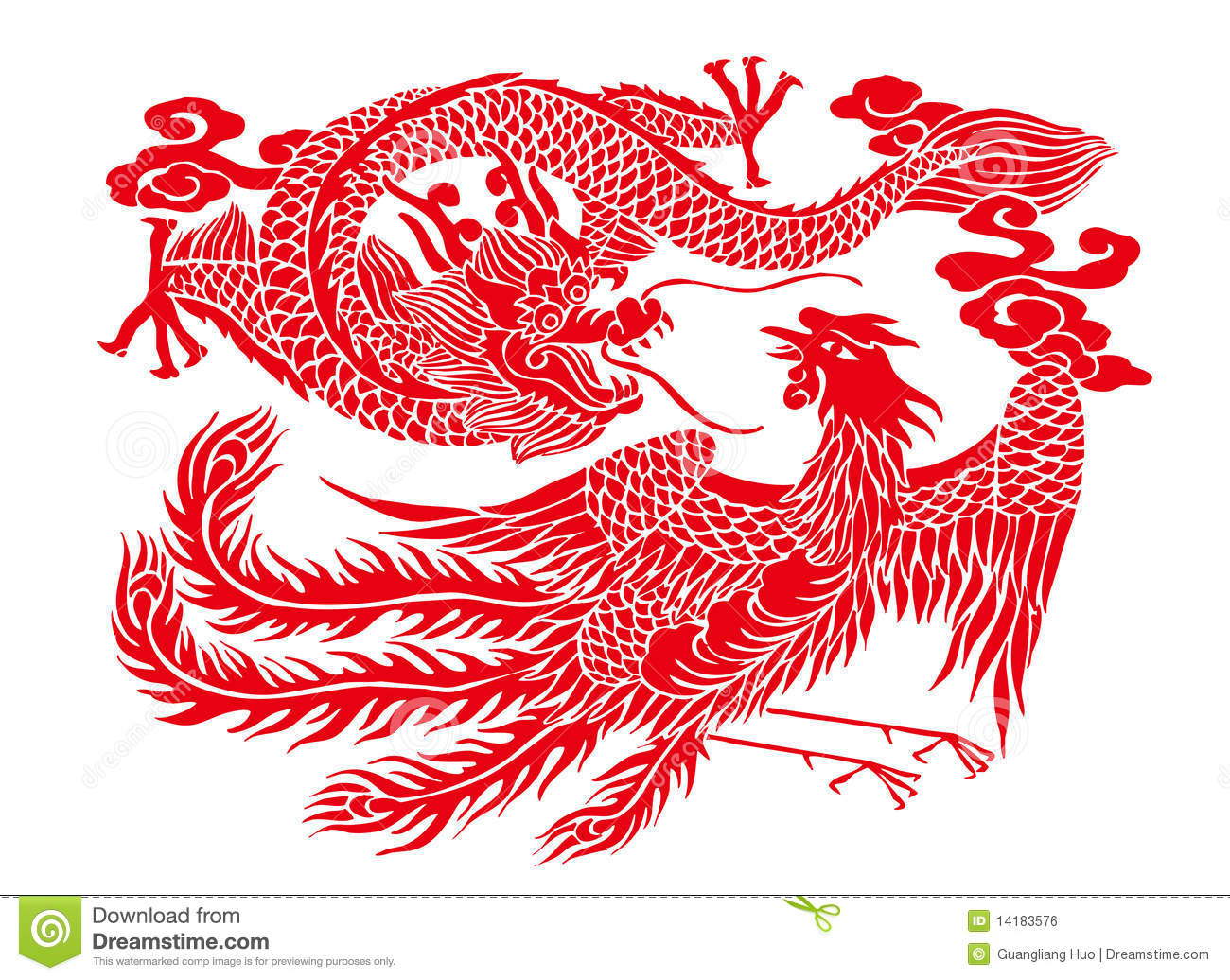 Chinese paper cutting stock illustration image of crafts for Chinese paper cutting templates dragon
