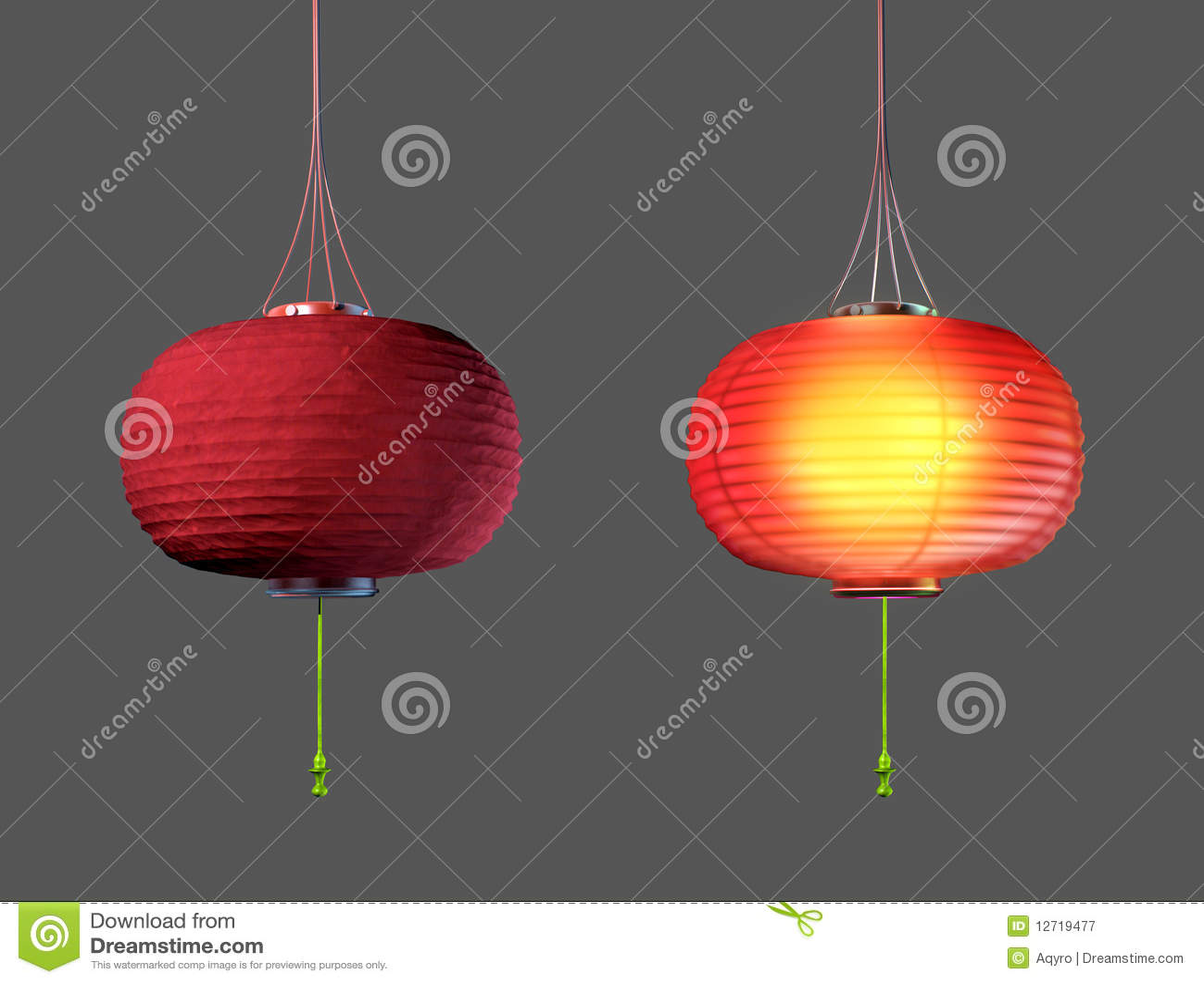 Chinese Paper Lamp Stock Illustration Illustration Of Shade 12719477