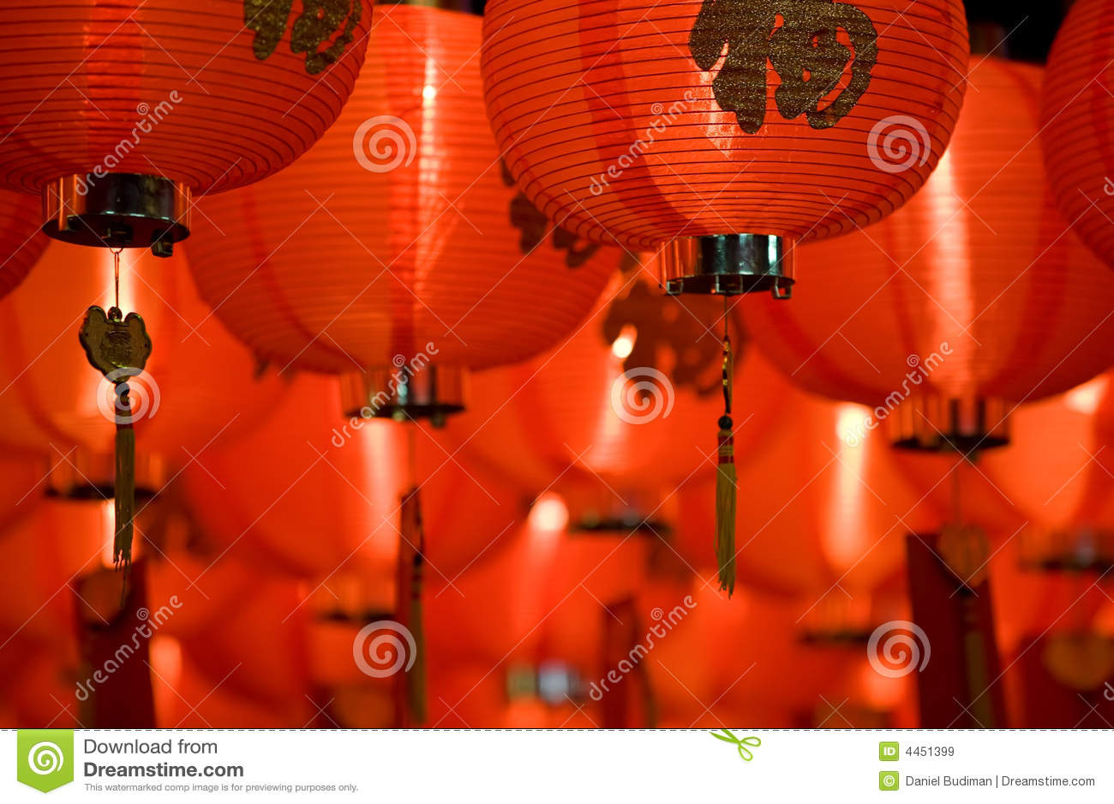 Chinese paper lantern close up