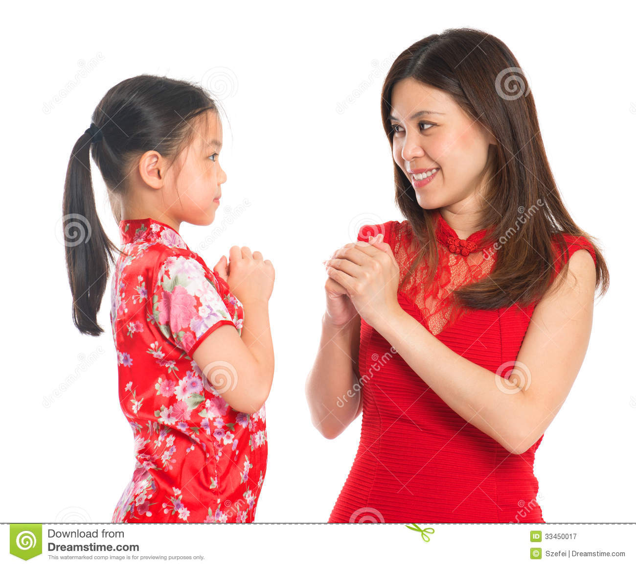 Chinese parent and child greeting to each other stock image image chinese parent and child greeting to each other m4hsunfo