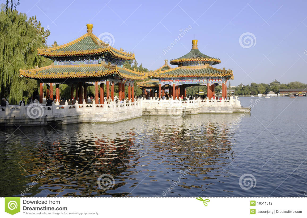 Chinese pavilion and park