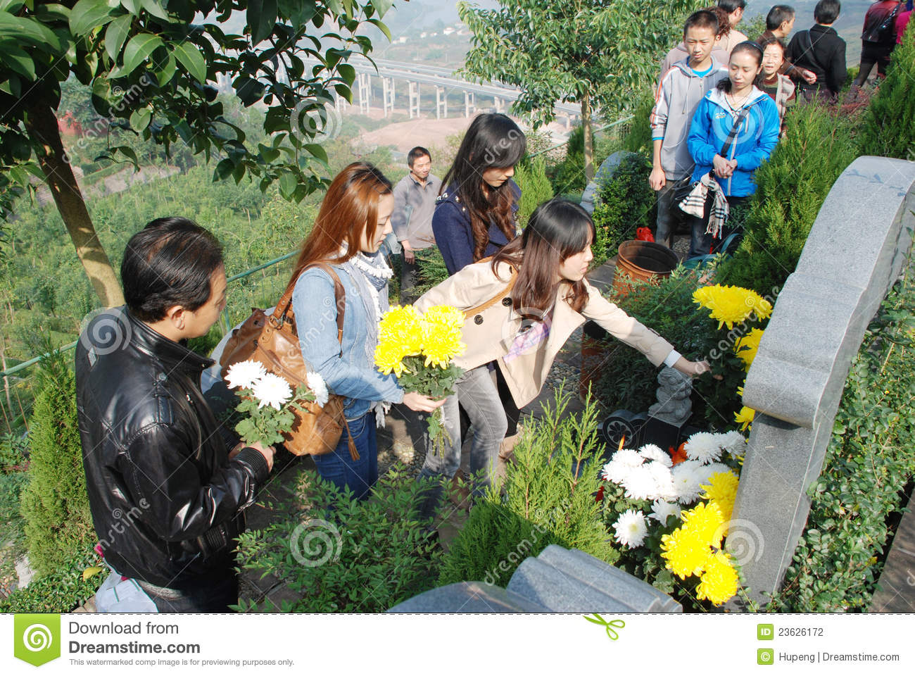 Chinese people Tomb sweeping