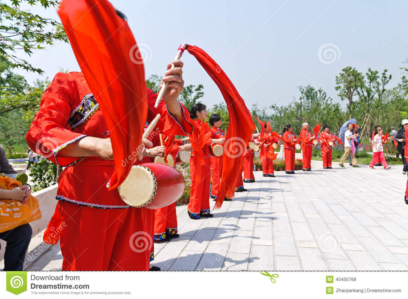 chinese performing waist drum dance editorial stock photo image of
