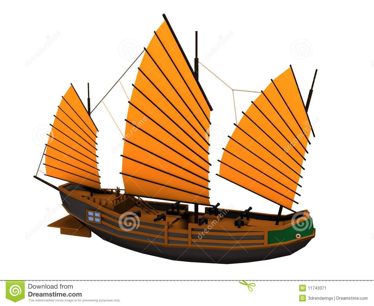 Chinese Pirate Ship Stock Image - Image: 11743371