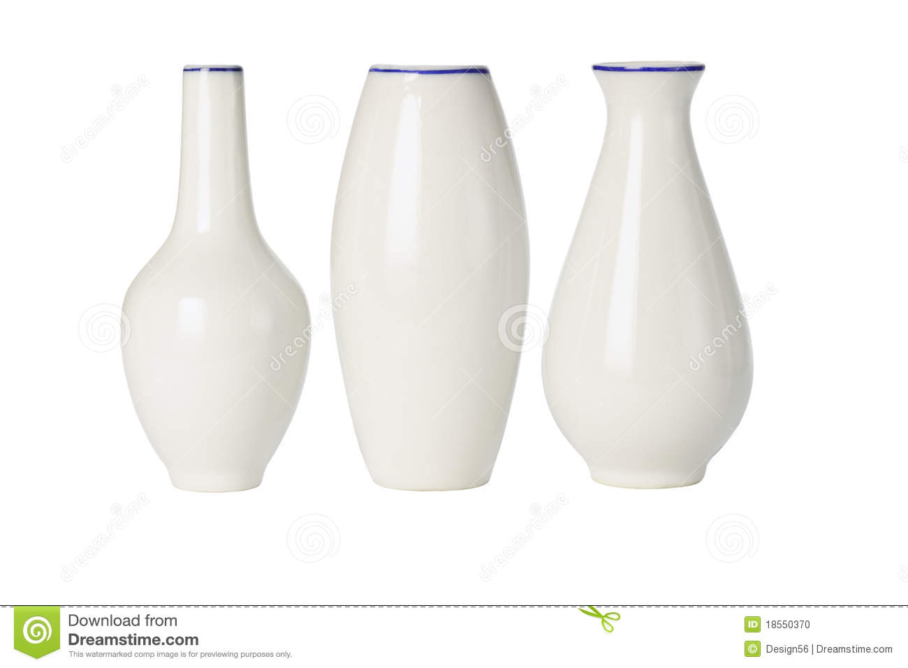 Chinese Porcelain Vases Of Various Shapes Stock Photo Image Of Orient Background 18550370
