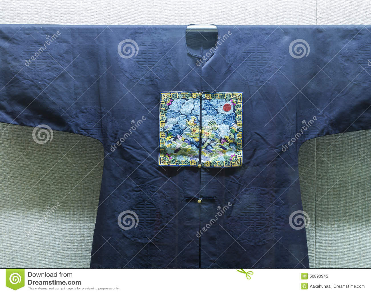 Chinese Qing Dynasty Official Uniform Pattern Stock Image - Image of