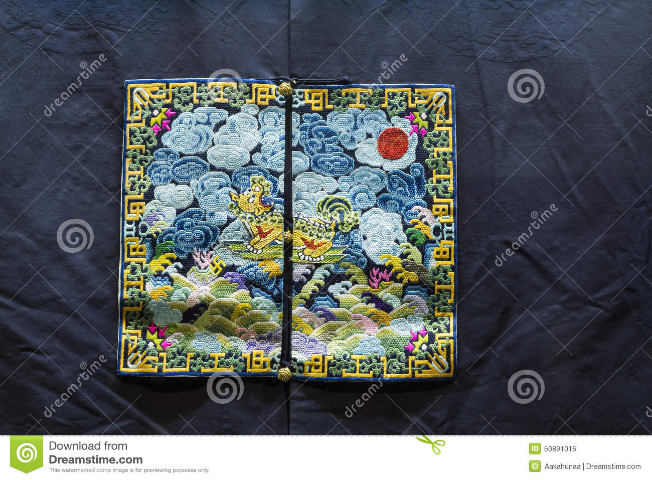 Chinese Qing Dynasty Official Uniform Pattern Stock Photo - Image of