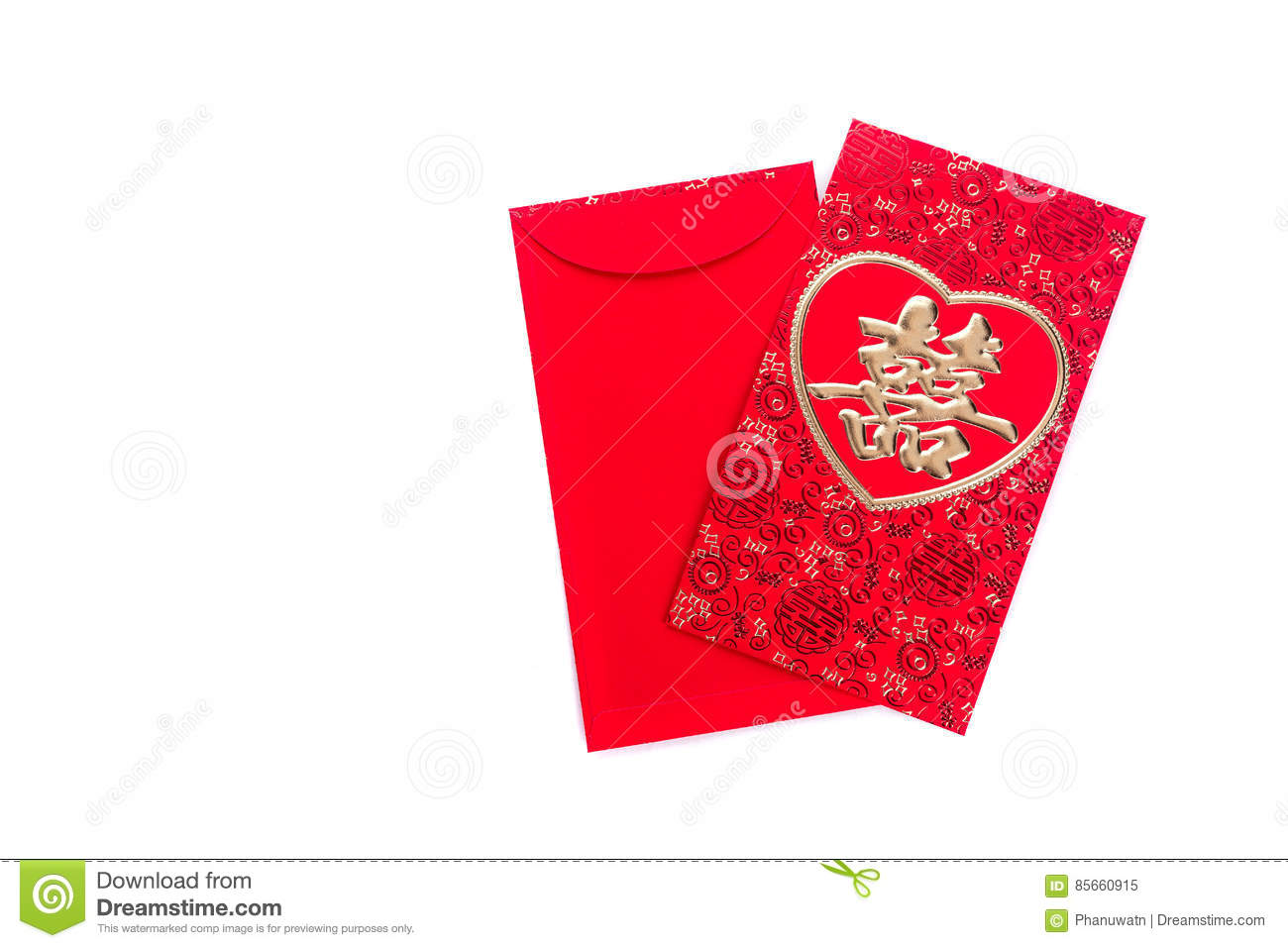 Chinese Red Envelope Use In Chinese New Year Festival On ...