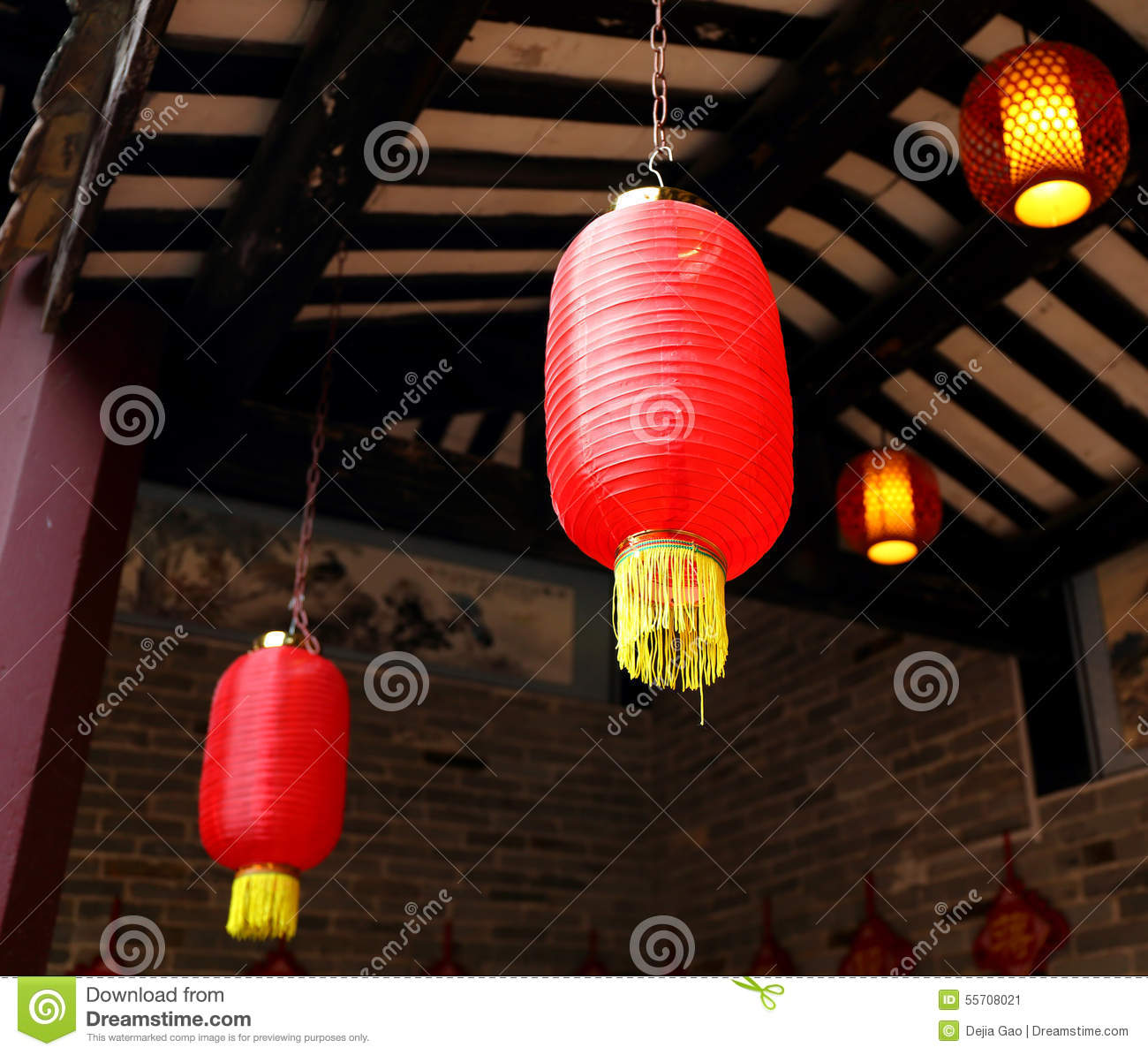 Royalty-Free Stock Photo. Download Asian Chinese Red Lantern Light ... & Asian Chinese Red Lantern Light China Asia Paper Lamp Lighting ... azcodes.com