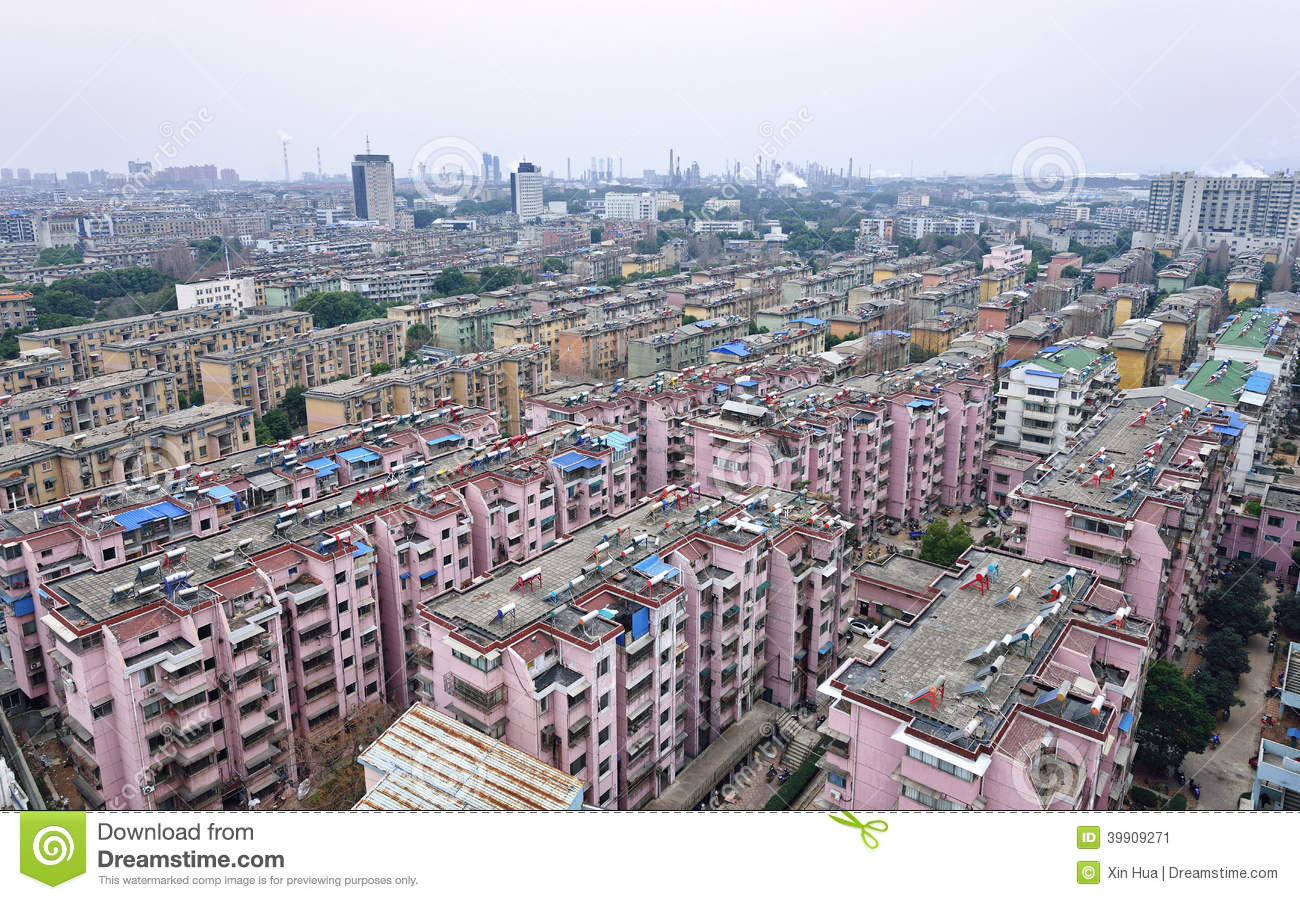 Anqing China  City new picture : High density residence area in Anqing City, Anhui Province, China.