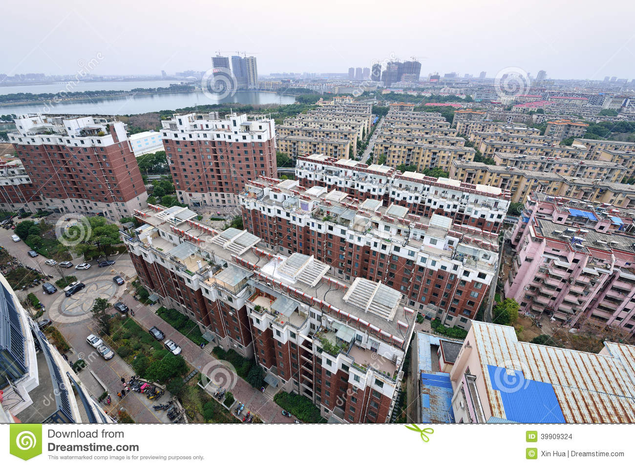Chinese Residence Community Stock Photo Image 39909271