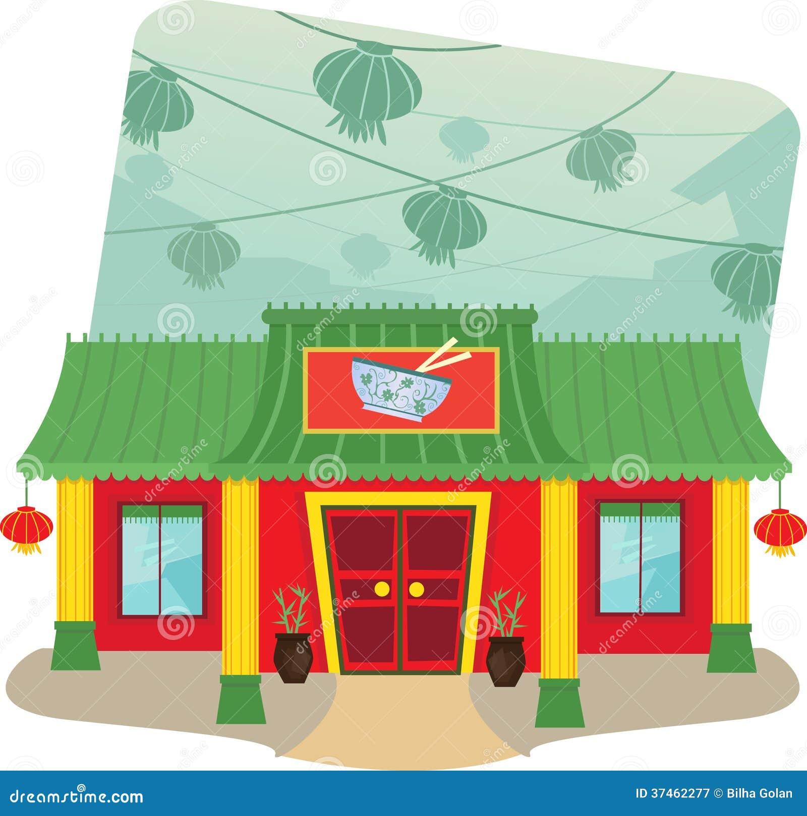 Building cartoon clipart restaurant building and restaurant building - Royalty Free Stock Photo Download Chinese Restaurant