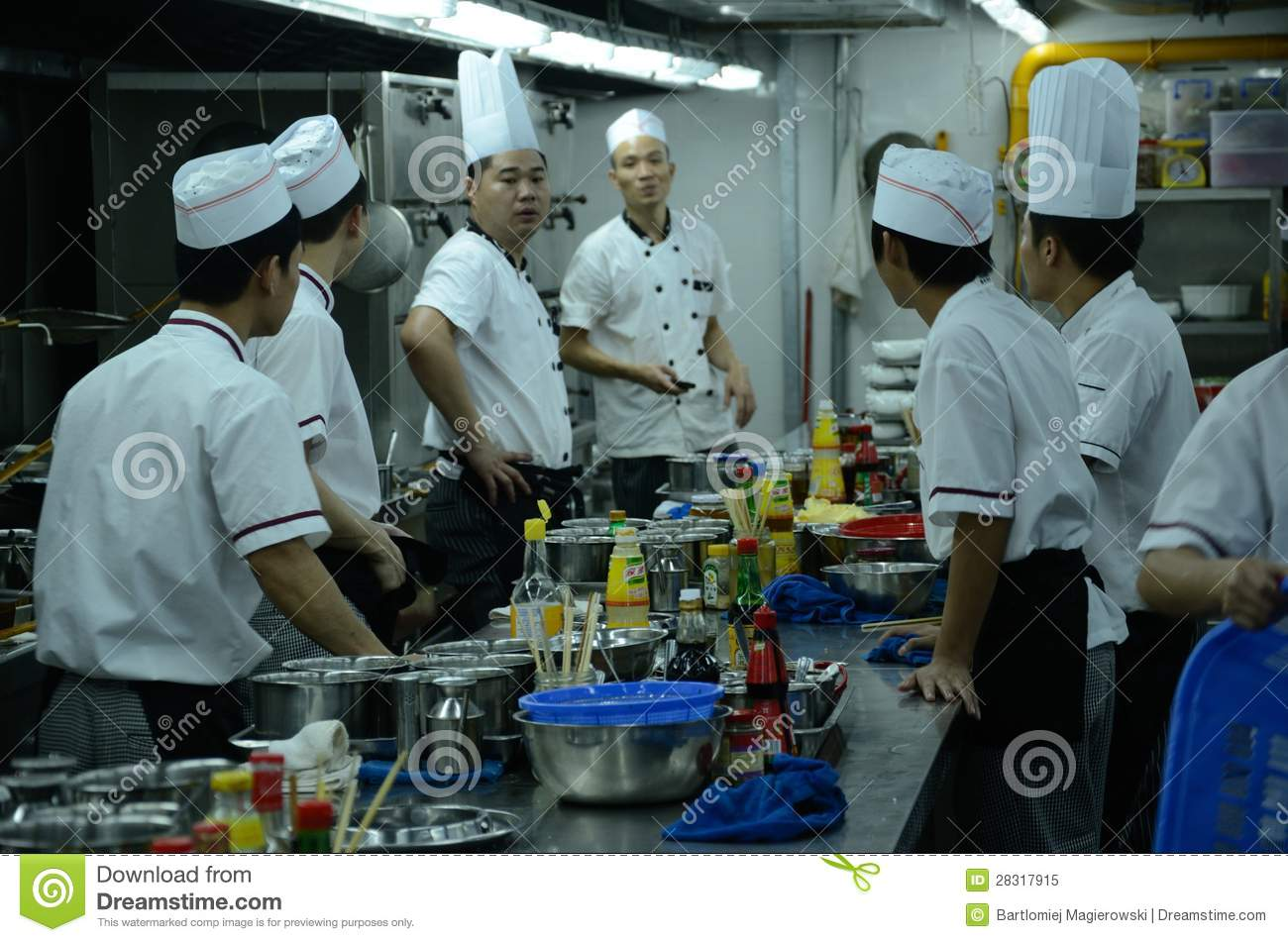 Chinese Restaurant - Chefs In Kitchen Editorial Image - Image of ...