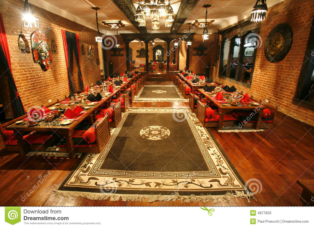 Chinese Restaurant Diningroom Stock Image Image Of