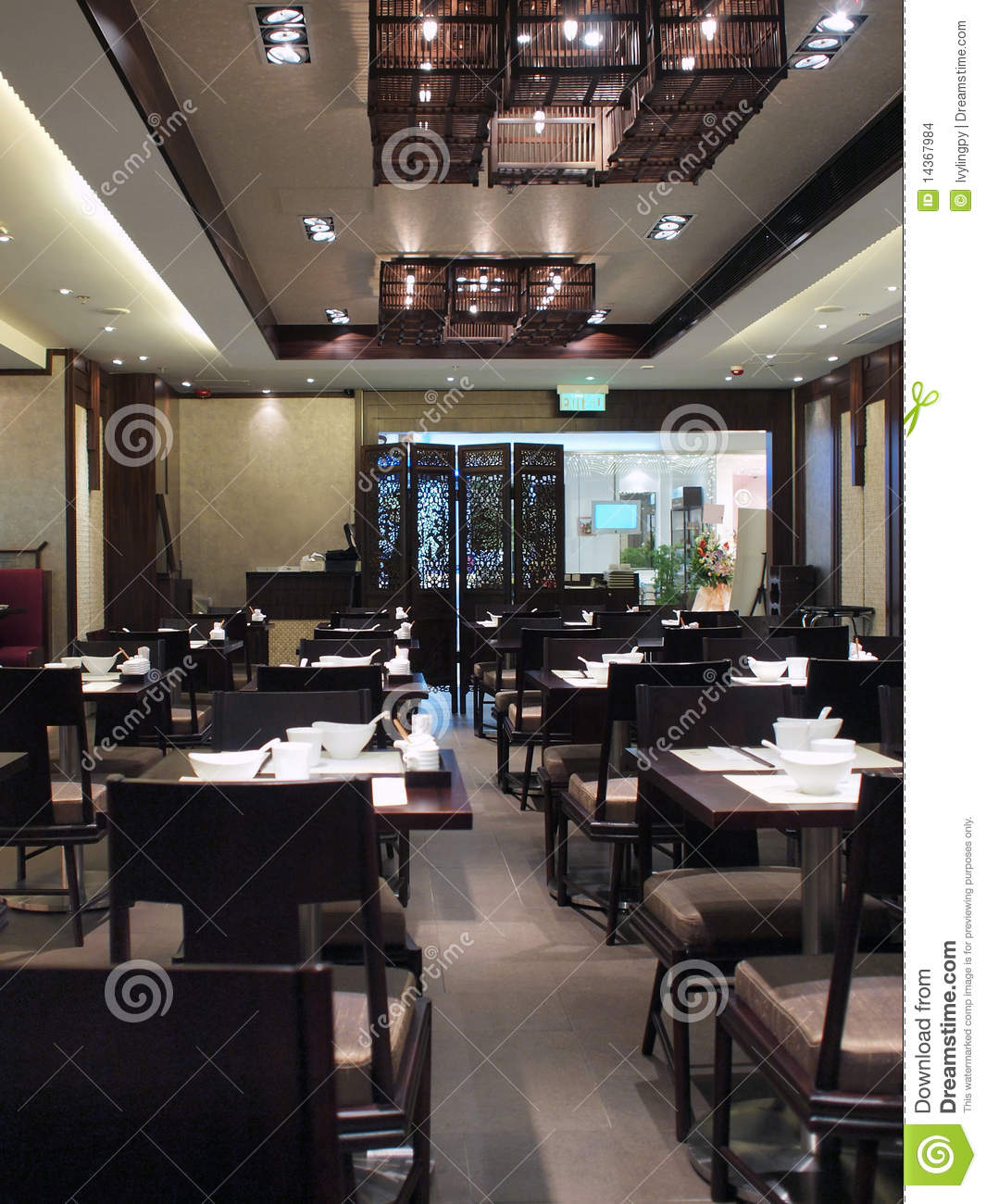 Chinese restaurant interior stock images image
