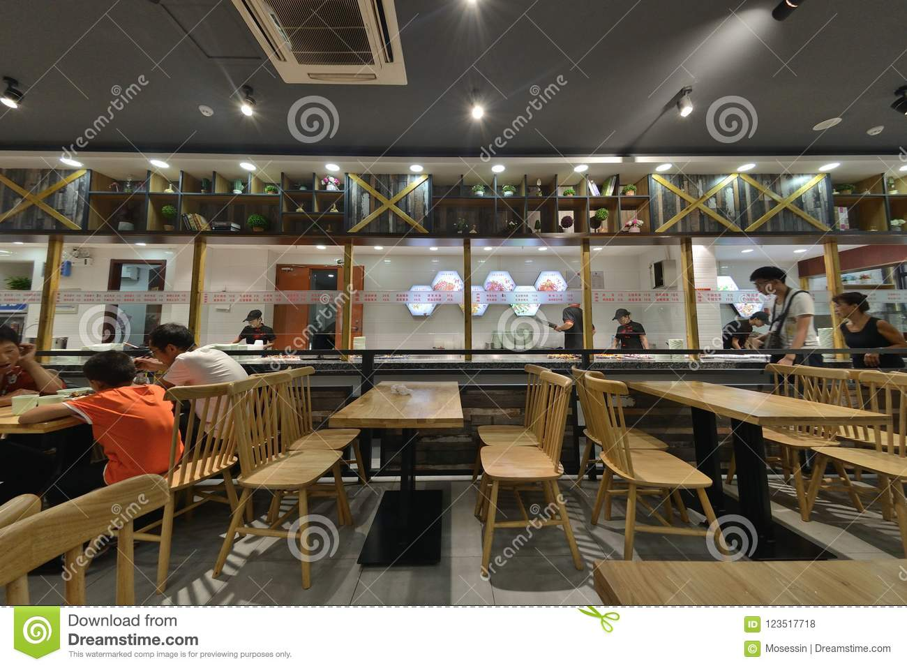 Chinese Restaurant Interior Design Editorial Stock Photo Image Of Buffet Choices 123517718