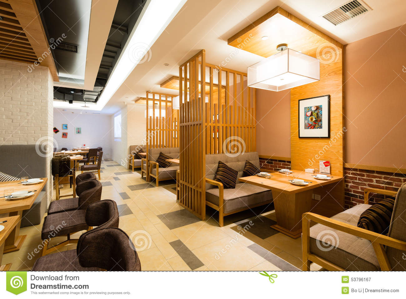 Chinese restaurant editorial photography image of stylish