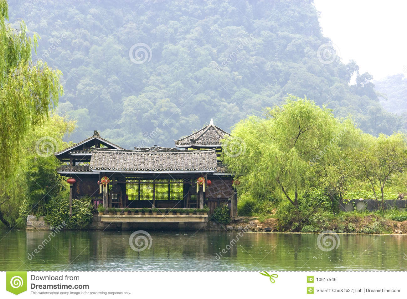 Chinese Riverside House Stock Photo Image Of Buildings