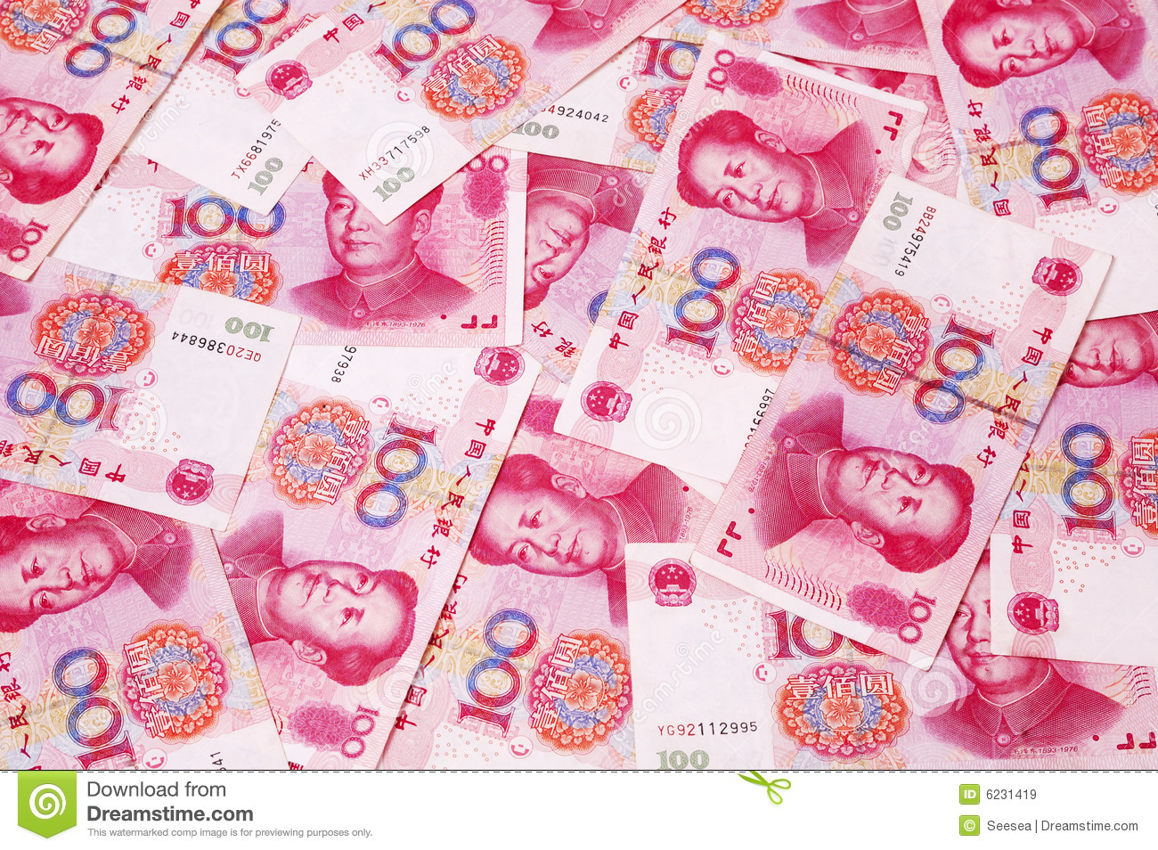Chinese Rmb Currency Background Royalty Free Stock Images