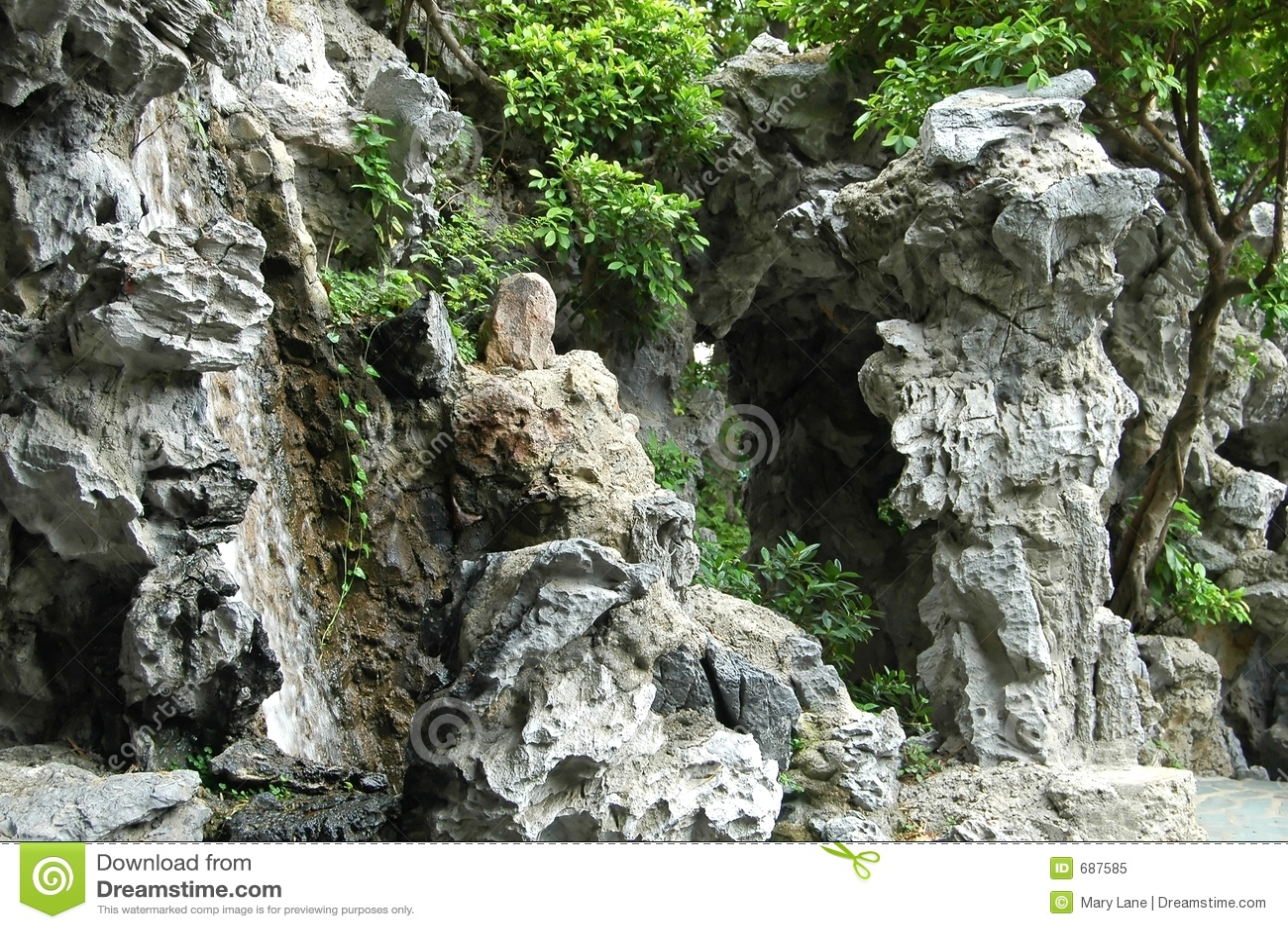 Chinese Rock Gardens - Chinese rock garden royalty free stock photo